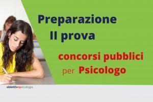 preparazione seconda prova concorsi psicologi